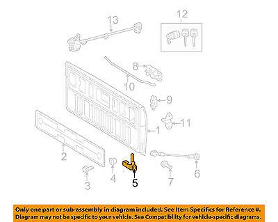 Toyota Oem 07-14 Tundra Heck Gate-hinge Links 661200c020 Eleganter Auftritt Bootsteile & Zubehör