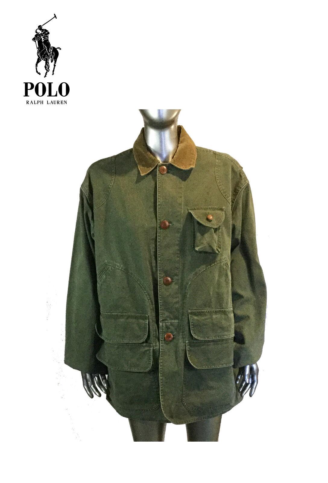 Vintage 90s Jahre Herren Polo Ralph Lauren Tarnfarbe Armee