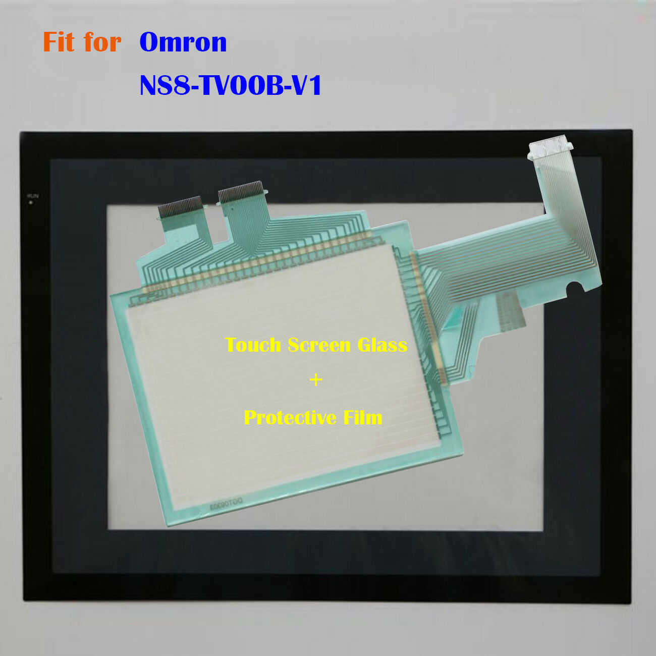 For Omron NS8-TV00B-V1, NS8TV00BV1 Touch Screen Glass + Predective Film New