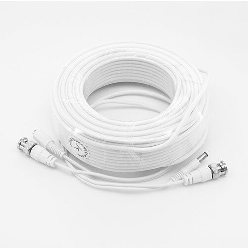 New High Quality White 200FT Thick BNC EXTENSION CABLES For Defender Systems