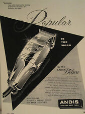 Vintage Barbershop Andis Junior Deluxe Popular Clipper Sign