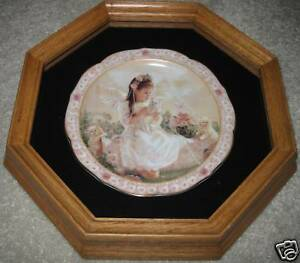 Tender-Moments-Heaven-039-s-Precious-Blessings-1st-plate-in-Oak-Wall-Display