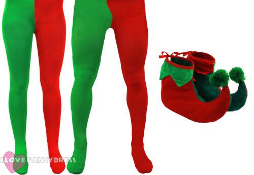Elf Collants et Bottes de Noël Costume Déguisement S M L XL XXL XXXL XXXXL