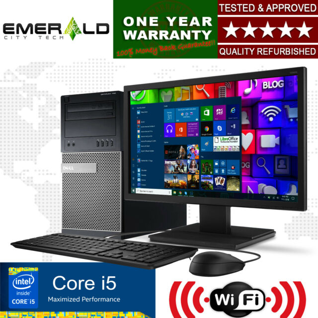 Amazing Dell Windows 10 Desktop Computer Intel Core I5 8Gb Ram 1Tb Hdd Dvdrw W 22 Lcd Download Free Architecture Designs Momecebritishbridgeorg