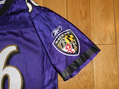 7bbf4c0300e REEBOK ON FIELD TODD HEAP BALTIMORE RAVENS YOUTH NFL TEAM REPLICA JERSEY L  14-16