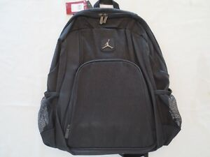 competitive price 7a30e c370a Image is loading NIKE-AIR-JORDAN-LEGACY-ELITE-BACKPACK-BLACK-LAPTOP-