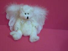 Ty Attic Treasure Bear Peppermint w/Added Angel Wings w/ Lace Ties