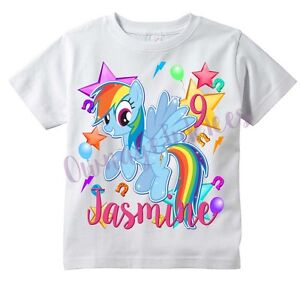 Image Is Loading RAINBOW DASH My Little Pony Custom T Shirt