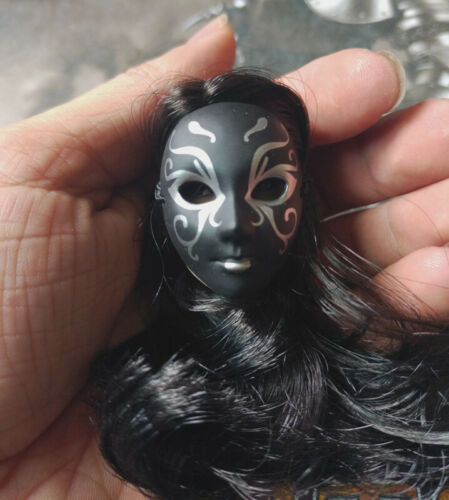 "1:6th Scale Black Western Face Mask Mode For 12/"" Female Body Doll"