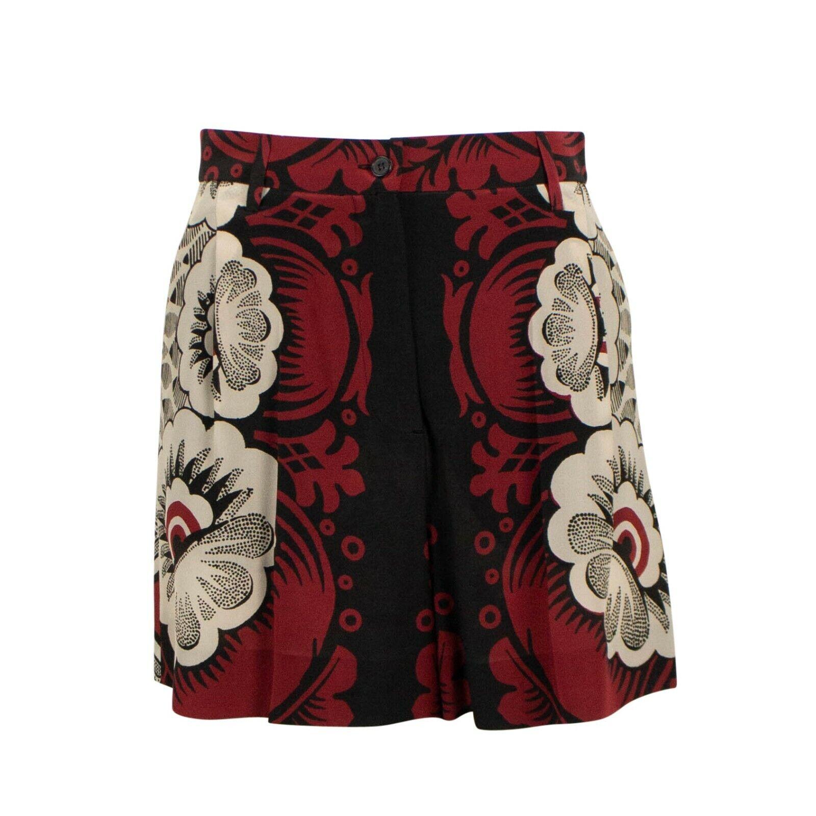 Nuevo  con etiquetas Valentino Multi-Color impreso Seda Pantalones Cortos frontal Plisado Talla 4 40  1690  buscando agente de ventas