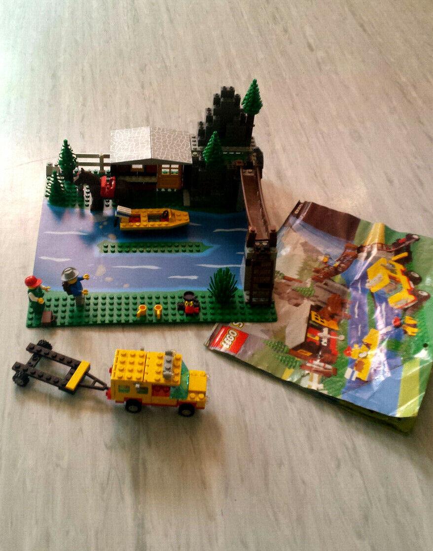 Lego 6552 Berghütte - Rocky River Retreat Camp - Haus Auto Stiefel Anhänger - Retro