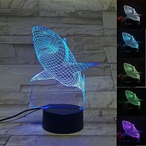 Image Is Loading Shark 3D Light Color Changing Lamp Bedroom Decor