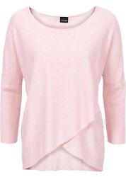 Damen Pullover rosa 32 – 48 50 M XL 2X Pulli Shirt Wickeloptik 3/4 Arm neu 706
