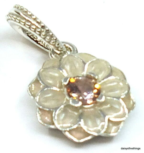 a039e9a96 Authentic PANDORA 925 Silver Charm Blooming Dahlia Flowers 791829NBP ...