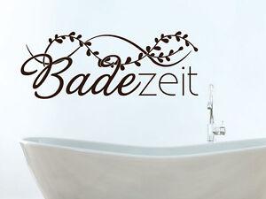 Wandtattoo Wandaufkleber Tattoo für Badezimmer Sprüche Bad Badezeit ...