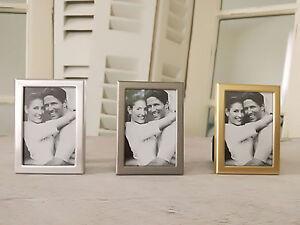 Mini-Bilderrahmen-Passfoto-Silber-Gold-Grau-3er-Set-Gastgeschenke-Tischkarten