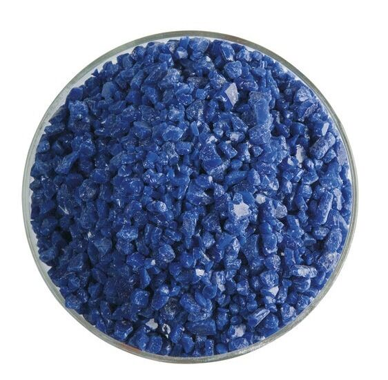 Bullseye COE 90 Kiln Fusing Glass Frit~  2oz Indigo Blue Opal