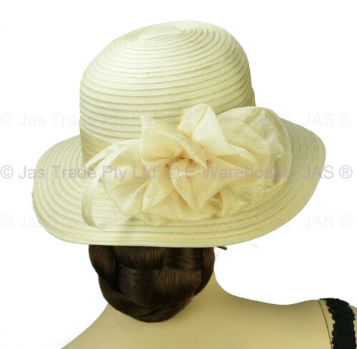 Women Ladies Spring Race Cocktail Church Wedding Funeral Evening Fashion Sun Hat