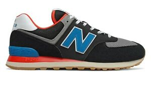 NEW-BALANCE-574-Core-Plus-Scarpe-Uomo-Sneakers-BLACK-NEO-BLUE-ML574SOV