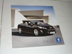 2009 Peugeot 308 CC Convertible brochure 1.6 VTi THP HDi FAP n 307 205 GTi HDi