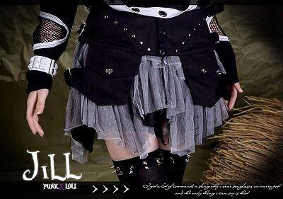 goth visual royal cosplay Utena revoluetion asymmetrical girdle skirt FA271 W
