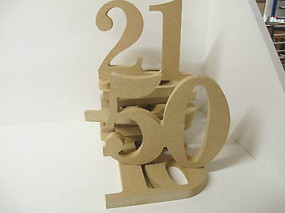 Wooden Joined Numbers Premium Quality 160mm High 18mm Thick Times Font