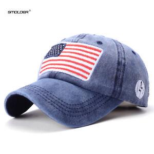 342433fe427 SMOLDER  2018 Brand New Dad Hats Men USA Flag Baseball Cap Casual ...