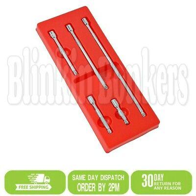 "wobble end ratchets socket wrench 5 Piece 1//2/"" drive  Extension Bar Set"