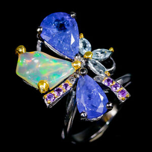 Expensive-200Us-Natural-Tanzanite-925-Sterling-Silver-Ring-Size-8-5-R95698