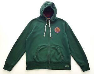 Rugby-Ralph-Lauren-Sportsmans-New-York-Green-Hooded-Sweatshirt-Size-XL-Mens