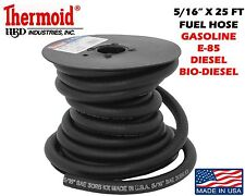 "5/16""X 25 FT SPOOL THERMOID FUEL LINE GASOLINE GAS E-85 BIO DIESEL USA MADE"