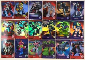 TRANSFORMERS-OPTIMUM-COLLECTION-Breygent-Complete-G1-Chase-Card-Set-TF1-TF18