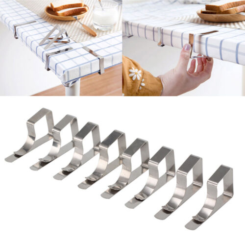 8* British Steel Table Cloth Cover Clips Quality Metal Pegs Clamp Picnic Prom UK