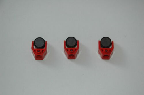 3 Lego Eisenbahn TRAIN Magnet in Halterung SEITL in ROT