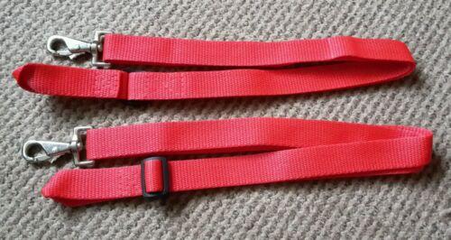 une paire Jambe Bretelles Trigger Clip Et Boucle stable//participation tapis Rouge x 2 BN!!!