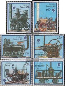 Laos-1091-1096-kompl-Ausg-postfrisch-1988-ESSEN-88-Alte-Lokomotiven