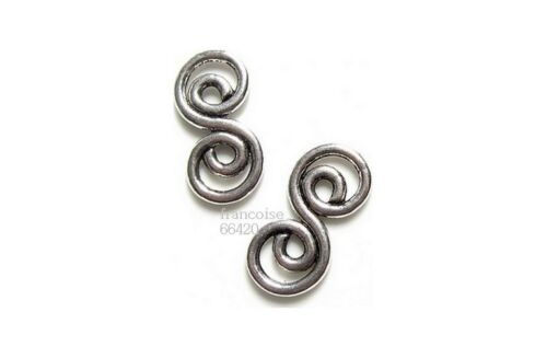 5 Connecteurs entre-deux Spirale 26x13x2mm Perles apprêts création bijoux /_ A200