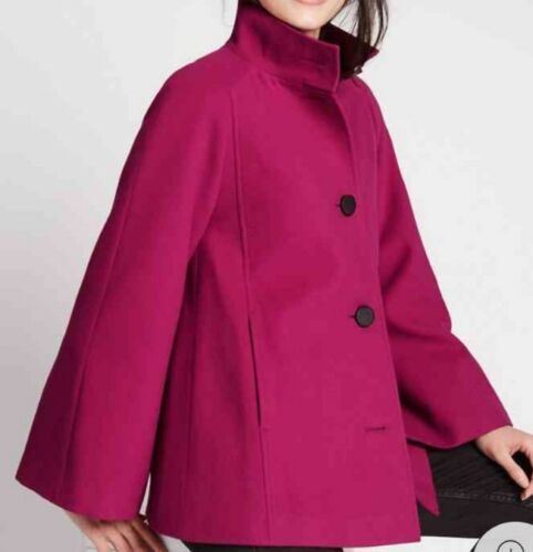 S Ladies M amp; Coat 12 Trapeze Bnwt Collection Cape Red Size Raspberry twq7Cq