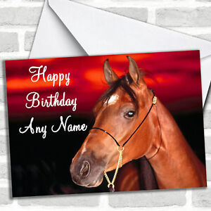 Horse-Portrait-Personalized-Birthday-Card