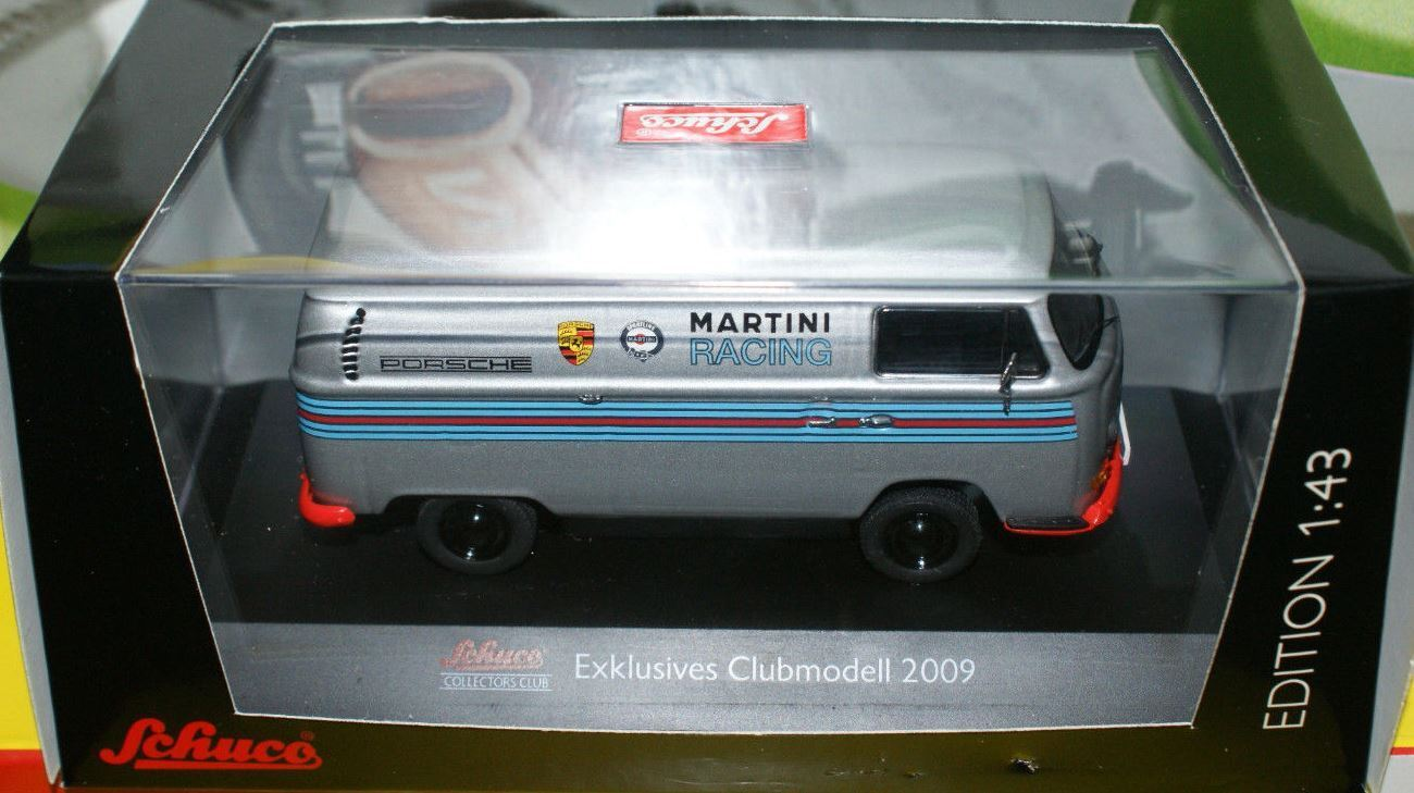 RARE SCHUCO CLUB 2009 VW T2 VAN PORSCHE MARTINI RACING 1 43 NEW BOXED 1 OF 500