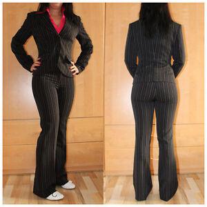 Details zu melrose Hosenanzug Gr. 17 (34 Kurzgröße) Blazer Anzughose Businessanzug (#1574)