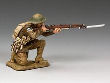 King & Country Soldiers FW190-Q World War I Kneeling Firing (Queensland) 1/30