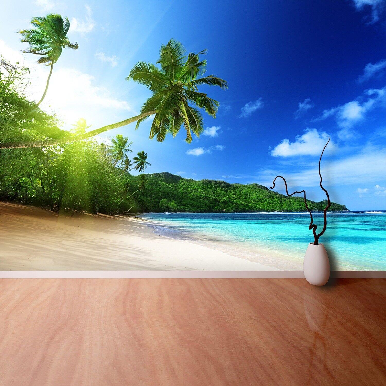 Fototapete Selbstklebend Einfach ablösbar Mehrfach klebbar Strand Seychellen