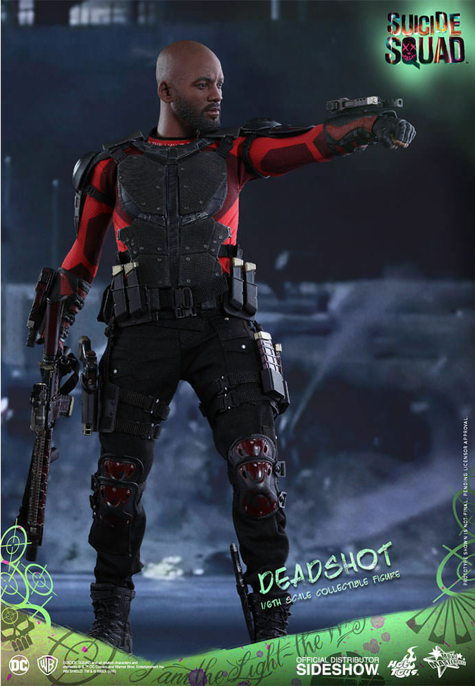 DC COMICS  SUICIDE SQUAD DEADSHOT ( Willy Smith ) 1 6 Action Figure 12″ HOT TOYS