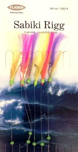 Hi Viz Feather Sabiki Sea Fishing Rigs To Size 4 Hooks for Boat Bait Fishing #