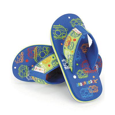 Playa urbana de burbuja Bus Van Marca Kids Niños Flip Flop Playa Zapatos amplia Vw