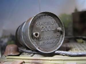 200L Treibstoff Fass Barrel Oil Drum WWII Wehrmacht RC Panzer Deko Ladegut 1/16 - Witten, Deutschland - 200L Treibstoff Fass Barrel Oil Drum WWII Wehrmacht RC Panzer Deko Ladegut 1/16 - Witten, Deutschland