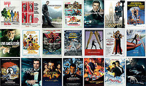 James Bond 007 Film Posters Sean Connery Rodger Moore Daniel Craig 1962-2012-afficher Le Titre D'origine éConomisez 50-70%