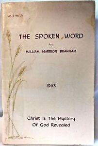 The Spoken Word-Branham Lot of 2 booklets Prophet Cult Religion Christ
