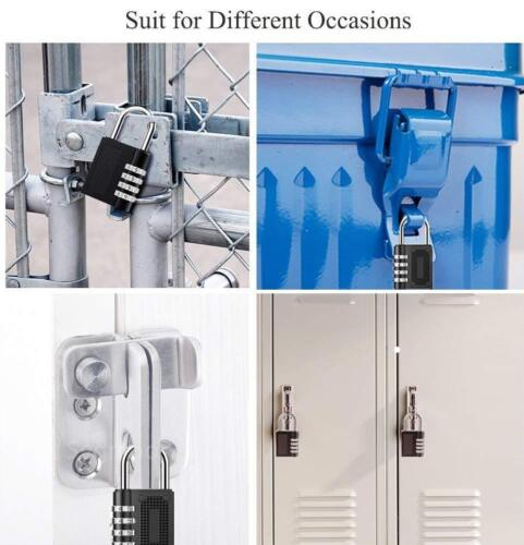 2 PACK Lock Resettable Heavy Duty 4 Digit Combination Security Padlock,